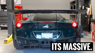 Making a Wing for my Ferrari GT3 458!!