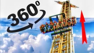 VR Videos 360 of Six Flags Roller Coaster VR Simulation