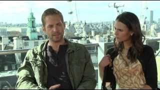 Форсаж (The Fast and the Furious), Fast & Furious 6 Interview Paul Walker & Jordana Brewster P2