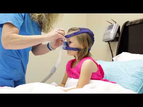 What happens when my child needs a breathing mask (NIV, CPAP) at night?
