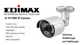 Unboxing the NAS Compatible Edimax IC-9110W IP Camera Outdoor HD DayNight, Wireless