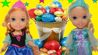 Anna and Elsa Easter Egg Hunt Elsa and Anna