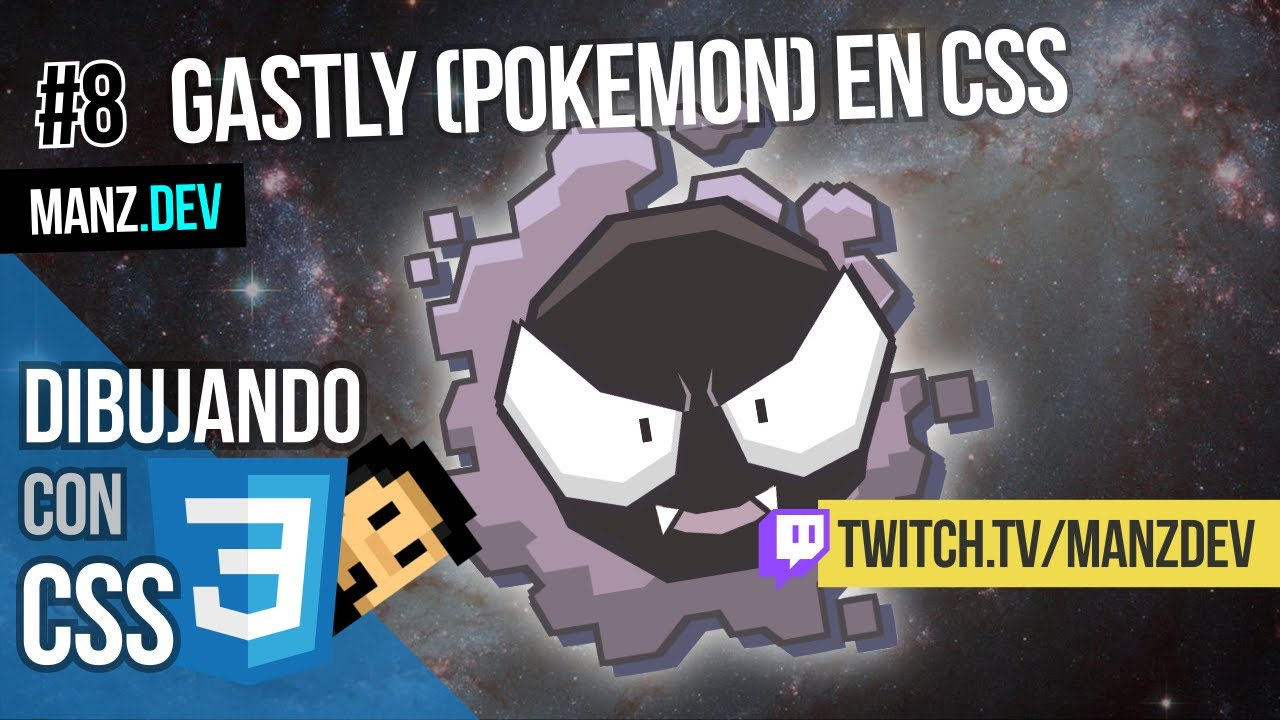 Dibujando a Gastly (Pokémon) con CSS