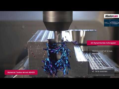 Mastercam 2022   Formeinsatz aus Toolox mit Fraisa-Werkzeugen