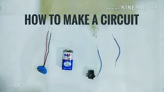 How to connect LED light with switch using battery
