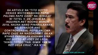 [UPDATE]  Tito Sotto, Pepsi Paloma, Inquirer.net Issue