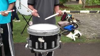 Snare Drum  Bendera Cokelat Band