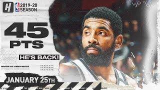 Kyrie Irving 45 Pts Full Highlights | Nets vs Pistons | January 25, 2020