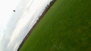 FPV drones chasing a fixed wing | Emax Eco 2 2306 2400KV test