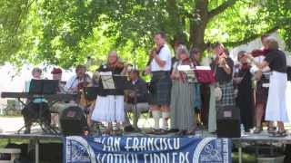 """SF Scottish Fiddlers - tune is """"Duncan Davidson""""  Art on the Green 2013, Coeur d'Alene"""
