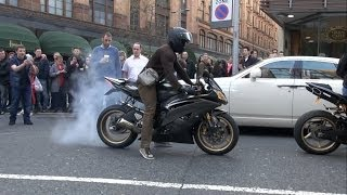 4 YAMAHA R1 Try to impress Crowds+Lambo!