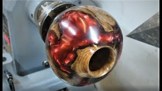 Woodturning - Resin and Rootball