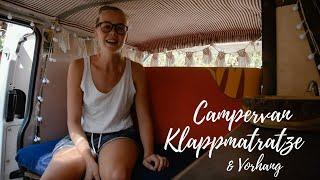 Klappmatratze fürs Ausziehbett & magnetischen Vorhang selber nähen | VW T4 Campervan Ausbau Teil 5