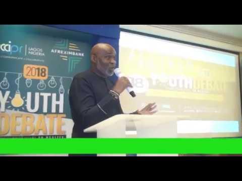 Veteran Nollywood Actor Richard Mofe Damijo @ 2018 Youth Debate