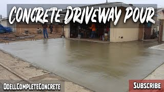 How To Pour A Concrete Driveway! Complete Front Yard Remodel! Part 2