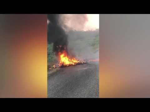 Tires Burn on the Highways
