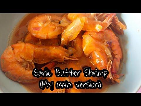 , title : 'Garlic Butter Shrimp (My own version)