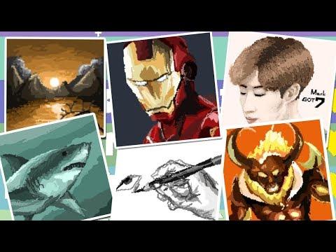 Pixel Painter - มาดูภาพวาดของคนที่มีหัวใจเยอะอันดับต้นๆของเกม