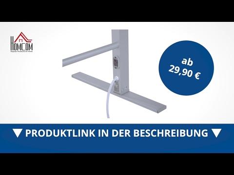 Homcom Elektrischer Wäscheständer / Handtuchhalter  beheizbar - direkt kaufen!