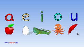 ♫ Fun and Fast Short Vowel Phonics Song 'aeiou' with actions. (Grade 1)♫