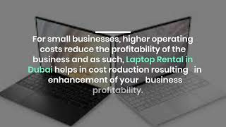 What are the Benefits of Renting Laptops for Business in Dubai?