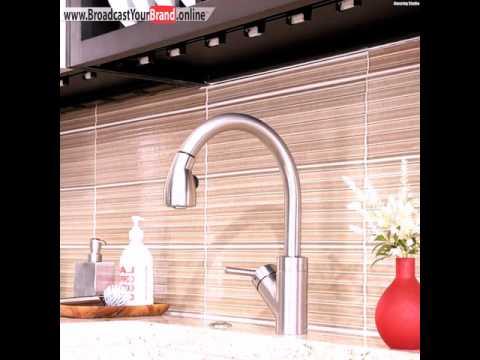 Fliesen Küchenrückwand Bambus Optik Linien