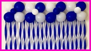 Very Easy Birthday Decoration | Very Easy Balloon Decoration At Home - Party Decorations.