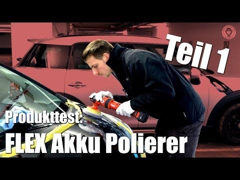 FLEX Akku Poliermaschinen im Test   PE 150 18.0-EC/5.0   XFE 15 150 18.0-EC/5.0