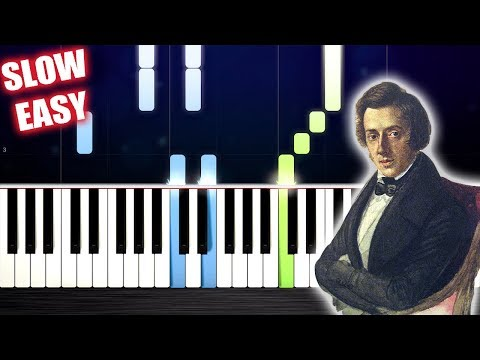 Chopin - Waltz in A minor - SLOW EASY Piano Tutorial by PlutaX
