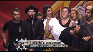 "APMAs 2014: All Time Low win Song Of The Year for ""A Love Like War"""