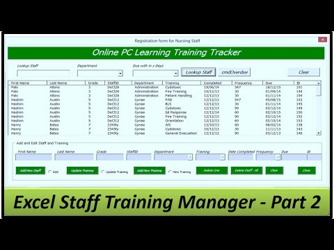 Download Staff Training Manager - Creating the Userform - Excel 2013 Part 2 Mp4 HD Video and MP3