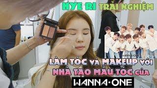 """Hye Ri trải nghiệm làm tóc với """"Nhà tạo mẫu tóc của Wanna One!"""" + Thấy cả Soo Young của SNSD nữa"""