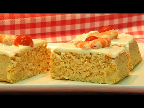 Receta de pastel de merluza y langostinos