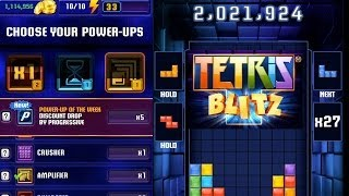 Tetris Blitz HIGH SCORE 2,000,000 Points Live Video Game Play
