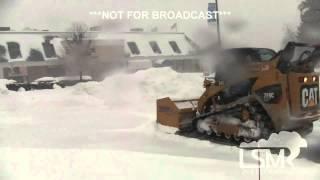 2-13-14 Southbury, Connecticut Snow Storm *Steve Barabas HD*