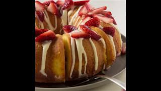 Strawberry Shortcake Poke Bundt Cake