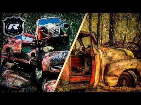Свалки ретро авто в лесах США, Бельгии и Швейцарии. Это надо видеть!