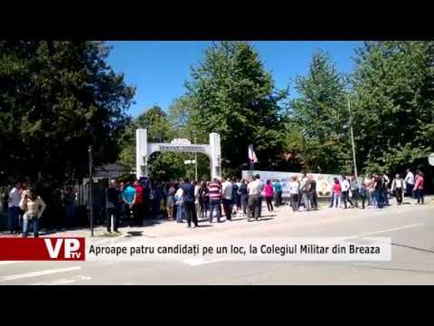 Aproape patru candidați pe un loc, la Colegiul Militar din Breaza