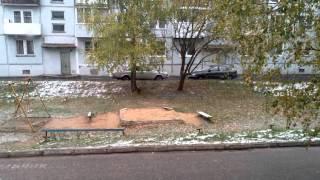 Снег в октябре! Город Владимир.