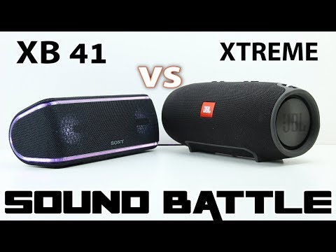Sony SRS XB41 vs JBL XTREME :Sound Battle