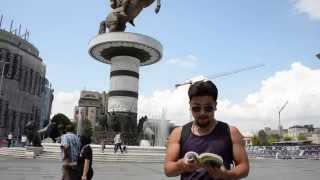 アキーラさん訪問①旧ユーゴスラビア・マケドニア・スコピエ・マケドニア広場・Macedonian-square,Skopje,Macedonia