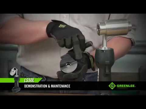 LS50L Knockout Punch / battery-operated hydraulic punching tool Greenlee