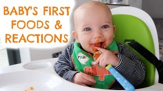 WHAT I FEED MY BABY  |  BABY'S FIRST FOODS  |  BABY MEAL IDEAS