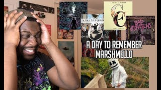 A DAY TO REMEMBER X MARSHMELLO   Rescue Me | MUSIC VIDEO REACTION