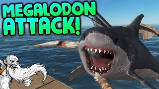 "Stranded Deep Gameplay - ""MEGALODON ATTACK!!!""  - Let"