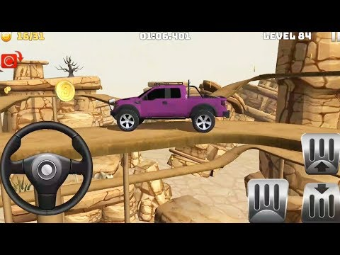 Mountain Climb 4x4: Impossible Stunts Pink Color Unlocked # Levels 83 To 86 - Android GamePlay HD