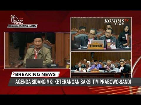 Hakim MK ke Saksi Tim Prabowo: Jangan Emosi, Pak!