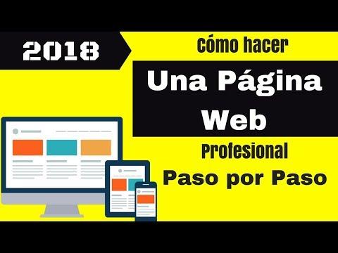Como crear tu página web profesional Lo más económico en 2018