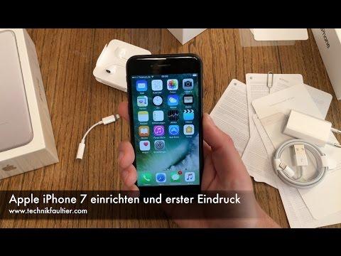 Apple iPhone 7 einrichten und erster Eindruck