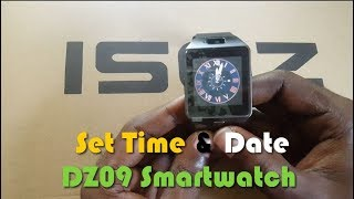 DZ09 Smartwatch Set Time and Date easily AM and PM
